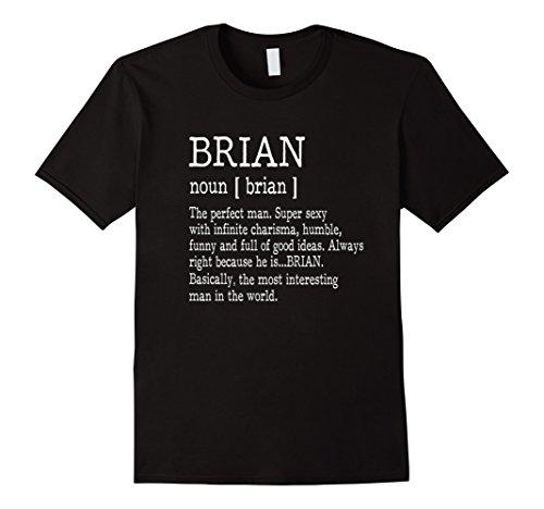 Mens Adult Definition   First Name Brian Men T Shirt Funny Medium Black