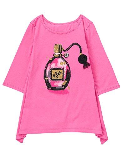 Gymboree Little Girls Graphic Tunic With Sharkbite Hem  Fuchsia  S