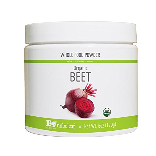 Nubeleaf Beet Powder - Non-GMO, Gluten-Free, Raw, Organic, Vegan Source of Essential Vitamins & Minerals - Single-Ingredient Nutrient Rich Superfood for Cooking, Baking, Smoothies (6oz)