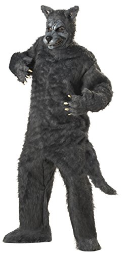 Men'S Big Bad Wolf Holiday Party Costume (Grey;One Size) (Standard) (Book Costumes For Adults)