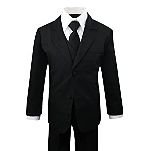 Luca Gabriel Toddler Boys' 5 Piece Classic Fit Formal Dress Suit Set - Size 7