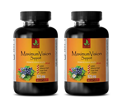 Eye Care Vitamins - Maximum Vision Support - Promotes Vision Health - Bilberry with Lutein Supplement - 2 Bottle 120 Capsules