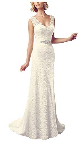 floreale motivo da lusso pizzo Bianco sposa elegante BRIDE Abito GEORGE di retr¨° wxg8R
