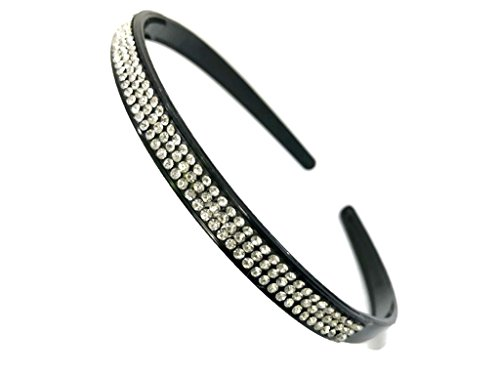 MeeTHan Crystal Rhinestone Diamond Black Headband: H26 (3 - Ocelot Sunglasses
