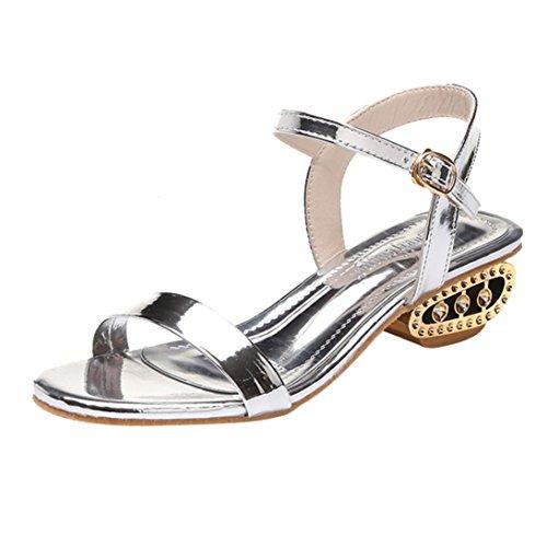 Women Shoes, Limsea Fashion Ladies Sandals Ankle Mid Heel Block Party Open Toe Shoes