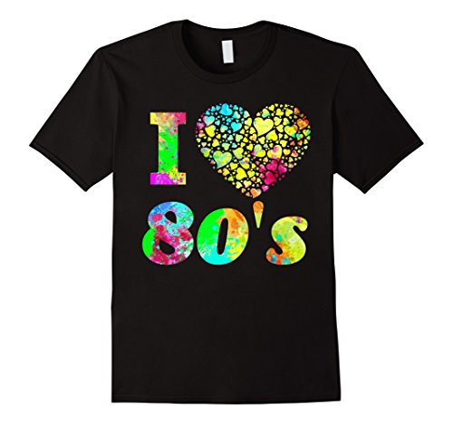 Mens 1980's Shirt - I Love The 80s Shirt - Colorful Party Tee 2XL (I Love 80s Shirt)