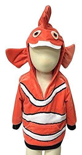 ComfyCamper Clownfish Costume Animal Play Sweatshirt Hoodie Boys/Girls, 2-4 Years (Fancy Clownfish)