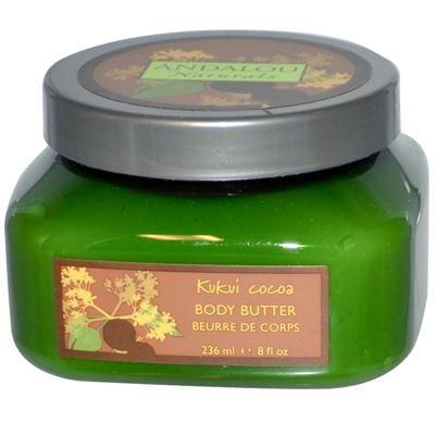 Andalou Naturals Nourishing Body Butter Kukui Cocoa - 8 Fl O