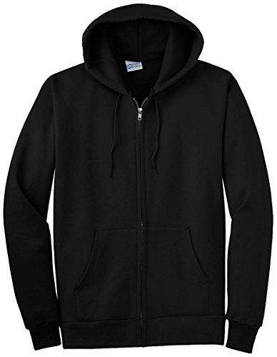 Port & Company Tall Ultimate Full-Zip Hooded Sweatshirt PC90ZHT -Jet Black (Hooded Top Company)