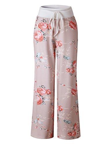 Pant Drawstring Scrub Lounge (Buauty Stretch Drawstring Pajama Pants 2XL Wide Leg Sweatpants Women)