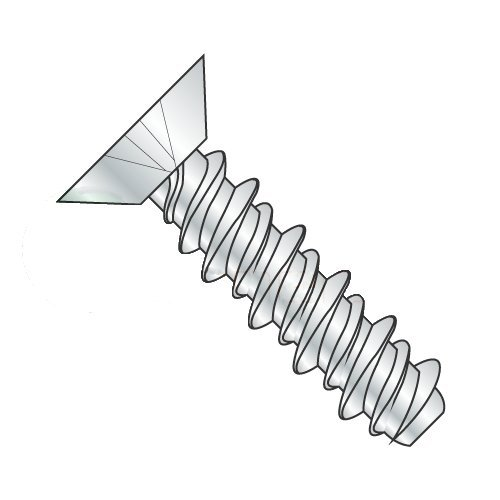"#4 x 1/4"" High Low Style Thread Forming Screws/Phillips/Flat Undercut Head/Steel/Zinc (Carton: 10,000 pcs) 419wrVNqbLL"