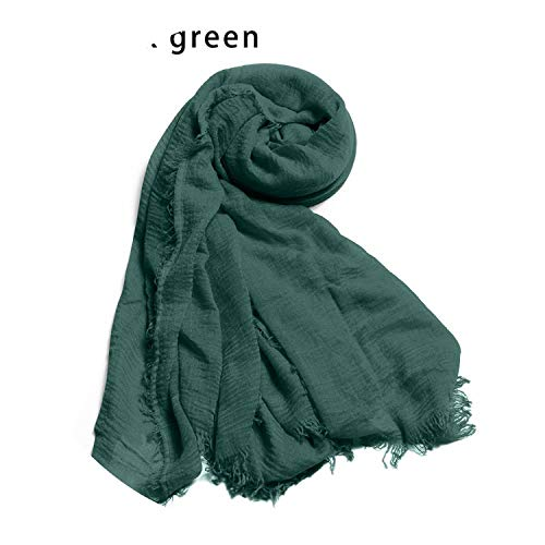 Headband Cashmere 1 Cotton Scarf Fringes Muslim Muffler Winter 12 Women PC Warm Scarf zqwzrvX