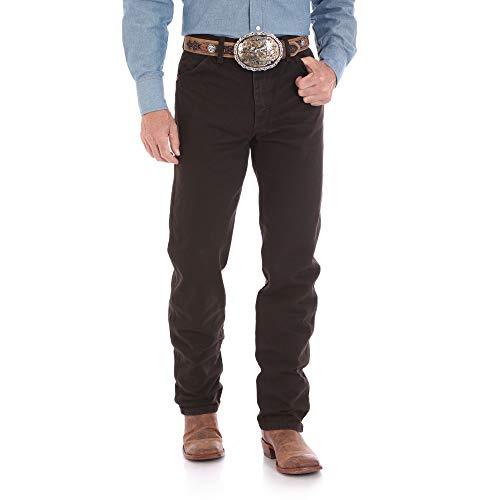 Wrangler Men's 13MWZ Cowboy Cut Original Fit Jean, Black Chocolate, 38W x 30L (Boots Brown Jeans)