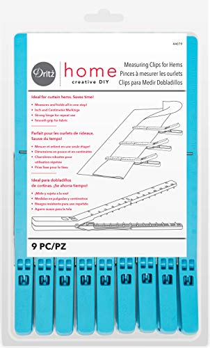 Dritz Home 44079 Measuring Clips 8125 x 5Inch 9Piece