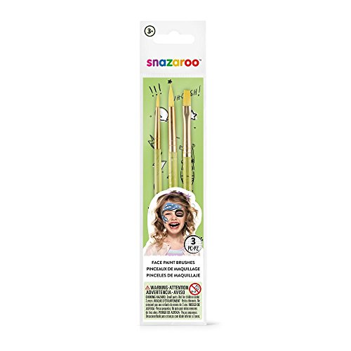 Snazaroo Green Starter Brushes - Set of 3 -