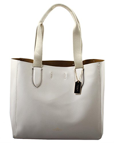 COACH Pebble Leather Derby Tote in Chalk Neutral, F58660 IMLOM by Coach