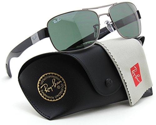 Ray-Ban RB3522 004/71 Unisex Metal Double Bridge Sunglasses - Sunglasses Double Ray Ban Shade