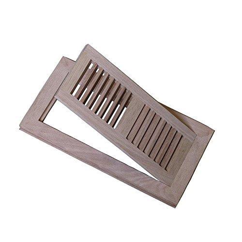 Welland 4 x10 hardwood vent floor register flush mount for Wood floor register 8 x 10
