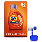 Tide Laundry Detergent Liquid Eco-Box, Concentrated, Original Scent, 105 oz, HE Compatible, 96 Loads