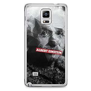Albert Einstein Samsung Note 4 Transparent Edge Case - Heroes Collection