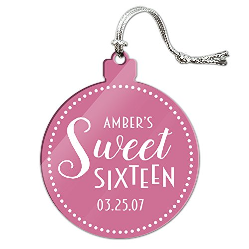 Graphics and More Personalized Custom Dark Pink Dotted Circle Name