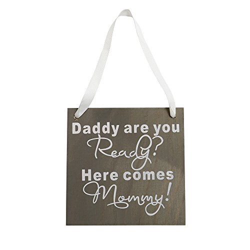 Haluoo Mom Daddy Wooden Hanging Plaque Board Mother&Father's Day Wood Sign Wall Ornament Home Decoration Gifts for Mum Dad (B)