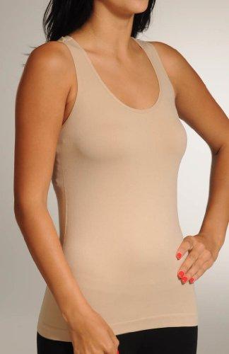 Coobie Women's Racerback Cami Nude Tank Top One Size (Back Spandex)