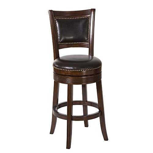 Hillsdale Furniture Swivel Bar Stool in Brown Cherry Finish