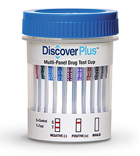 Single DISCOVER PLUS 12 Panel Cup - (THC/COC/AMP/OPI300/mAMP/PCP/BAR/BZO/MTD/MDMA/OXY/TCA)