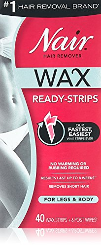 Nair Hair Remover Wax Ready-Strips 40 Count Legs/Body (2 Pack) (Ready Remover Strip)