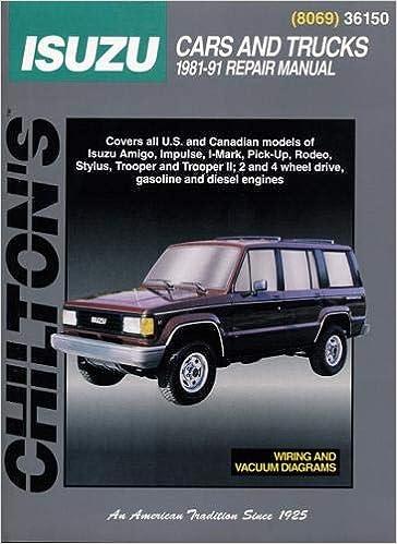 Isuzu Cars And Trucks (81 - 91): Isuzu Trooper Repair Manual