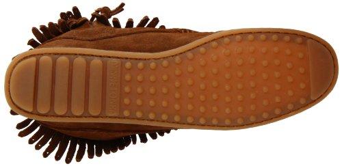 Minnetonka doppia frangia, con ZIP laterale, colore: marrone antico, da donna