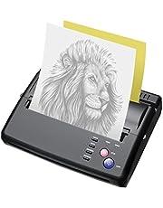 InLoveArts Maszyna do transferu tatuażu, drukarka termiczna, drukarka termiczna, szablon do tatuażu z 10 sztukami papieru termotransferowego i 500 cyfrowymi wzorami do samodzielnego wykonywania tatuaży