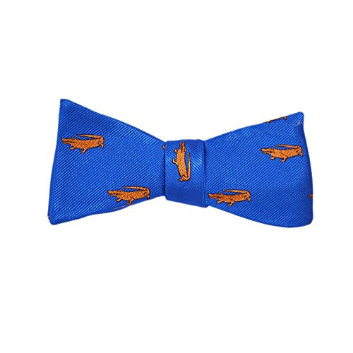 Bow Tie - Blue, Woven Silk, Adult Tie Yourself Bow Tie ()