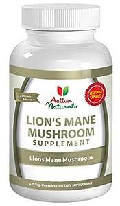 Activa Naturals Lions Mane Mushroom Supplement - 120 Veg. Capsules with Lion's Mane Mushrooms