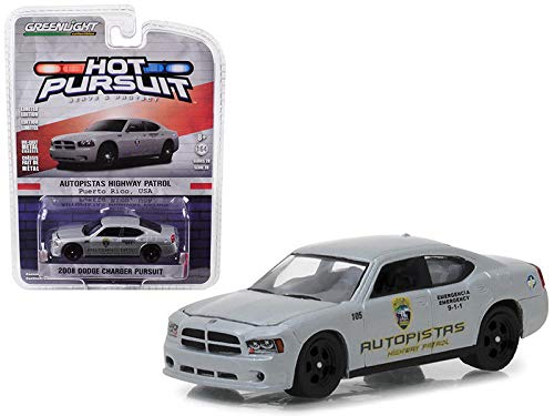 2008 Dodge Charger Pursuit Puerto Rico Autopistas Highway Patrol Hot Pursuit Series 28 1/64 Diecast Model Car by Greenlight 42850 D