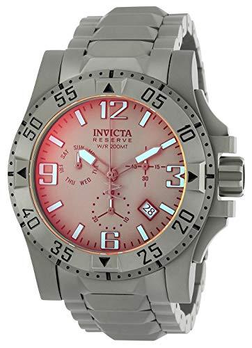 Invicta Men's Reserve Quartz Watch with Stainless Steel Strap, Titanium, 26 (Model: 25044) (Invicta Titanium)