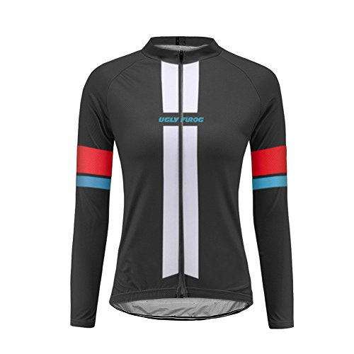 Uglyfrog 2017 Newest Winter With Fleece Women Outdoor Sports Cycling Long Sleeve Cycle Jersey Bike Shirt Bicycle Top Triathlon ()