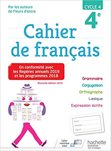 Cahier De Francais Cycle 4 4e Ed 2019 Amazon Fr