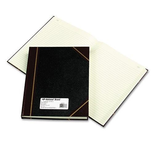 NATIONALBRAND 56231 Texhide Accounting Book, Black/Burgundy, 300 Green Pages, 10 3/8 x 8 3/8