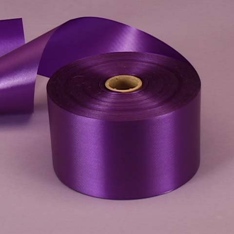 Purple Embossed Poly Satin Ribbon, 2-3/4' X 100 Yards