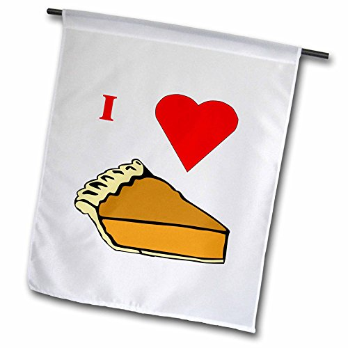 8 Mm Pumpkin - 3dRose fl_60649_1 I Love Pumpkin Pie Garden Flag, 12 by 18-Inch