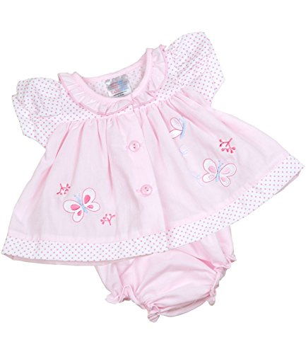 (BabyPrem Preemie Baby Dress & Knickers Set Butterfly Girls Clothes 3.5-5.5lb Pink)