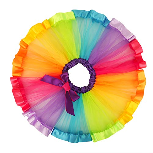 belababy Rainbow Tutu Skirt, Layered Ballet Skirts, Multicolor Tulle Dress Polyester for Toddlers, Girls &Women -
