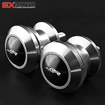 Fittings Motorcycle CNC Aluminum Swingarm Spools Slider for BMW S1000RR S1000R HP4 2010-2013 2014 2015 2016 2017 Stand Screws Accessories Color: Black
