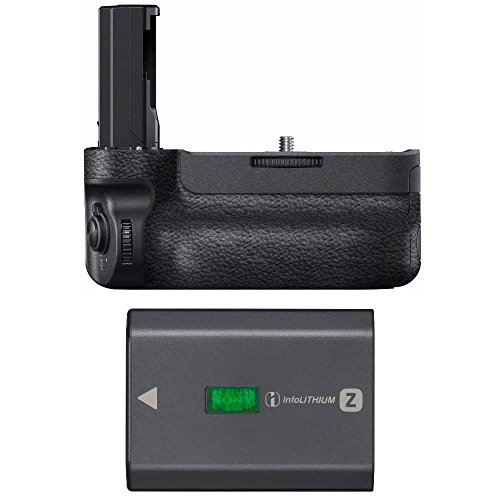 Sony VGC3EM Vertical Grip with Sony NPFZ100 Z-Series Recharg
