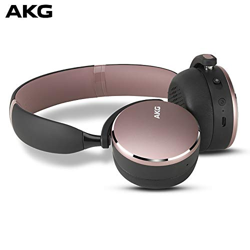 AKG Y500 On-Ear Foldable Wireless Bluetooth Headphones - Pink (US Version)