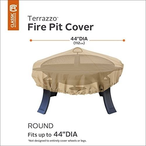 (Ship from USA) Classic Accessories 58992-EC Terrazzo Fire Pit Cover, Round /ITEM NO#8Y-IFW81854216324 by Rosotion