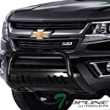 #7: Topline Autopart Black Bull Bar Brush Push Front Bumper Grill Grille Guard With Skid Plate FRC For 15-18 Chevy Colorado ; GMC Canyon