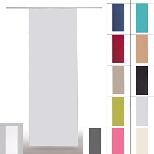 Flächenvorhang blickdicht Schiebegardine Raumteiler Schiebevorhang ca.60cm x 245cm, Auswahl: ohne Technik, grau - hellgrau